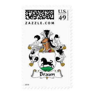 Escudo de la familia de Braun Sellos