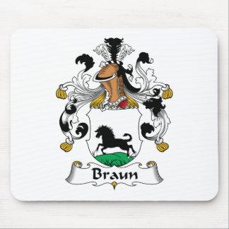 Escudo de la familia de Braun Alfombrilla De Ratón