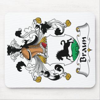 Escudo de la familia de Braun Alfombrillas De Ratones