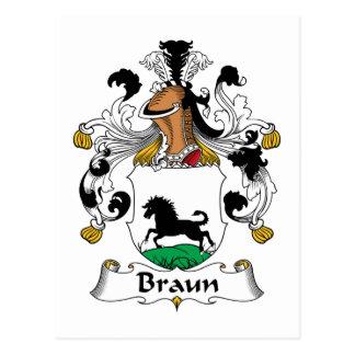 Escudo de la familia de Braun Tarjetas Postales