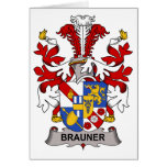 Escudo de la familia de Brauner Felicitación