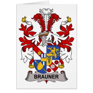 Escudo de la familia de Brauner Tarjeta De Felicitación