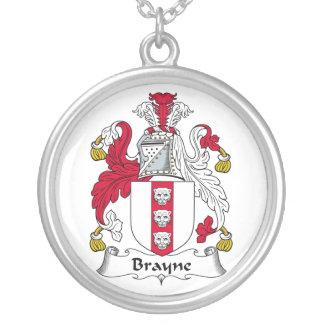 Escudo de la familia de Brayne Colgante Redondo