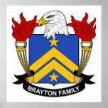 Escudo de la familia de Brayton Impresiones