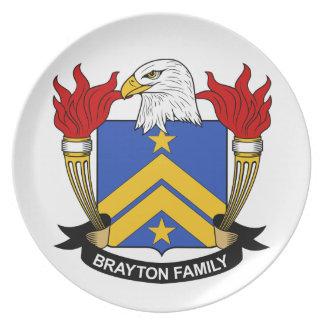 Escudo de la familia de Brayton Platos De Comidas