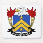 Escudo de la familia de Brayton Alfombrillas De Ratón