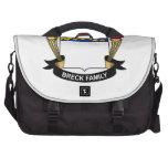 Escudo de la familia de Breck Bolsa Para Ordenador