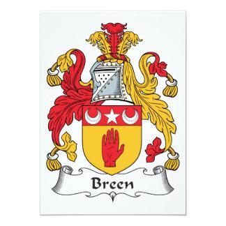 """Escudo de la familia de Breen Invitación 5"""" X 7"""""""