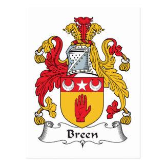 Escudo de la familia de Breen Postal