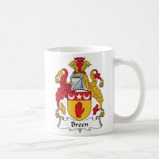 Escudo de la familia de Breen Taza De Café