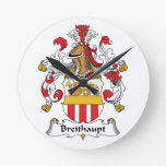 Escudo de la familia de Breithaupt Reloj De Pared