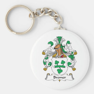 Escudo de la familia de Bremer Llavero Redondo Tipo Pin
