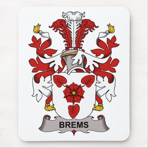 Escudo de la familia de Brems Alfombrillas De Ratón
