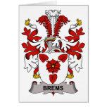 Escudo de la familia de Brems Tarjeton