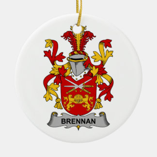 Escudo de la familia de Brennan Adorno Redondo De Cerámica