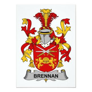 """Escudo de la familia de Brennan Invitación 5"""" X 7"""""""