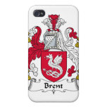 Escudo de la familia de Brent iPhone 4 Carcasas