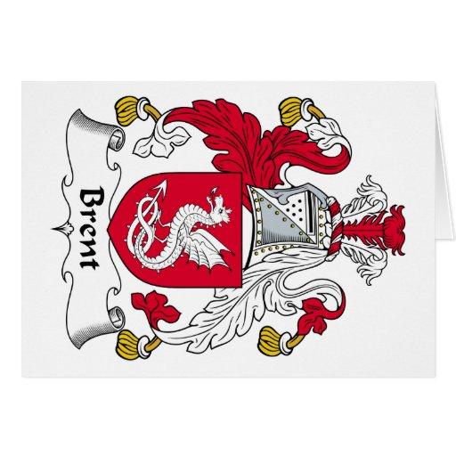 Escudo de la familia de Brent Tarjetas