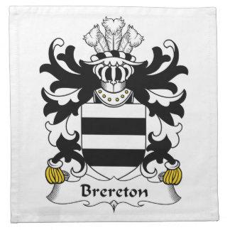 Escudo de la familia de Brereton Servilleta De Papel