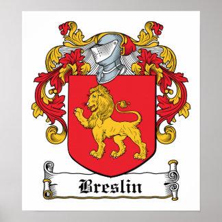 Escudo de la familia de Breslin Póster
