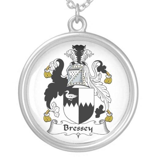 Escudo de la familia de Bressey Colgante Personalizado