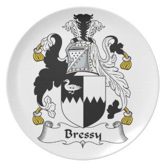 Escudo de la familia de Bressy Platos Para Fiestas