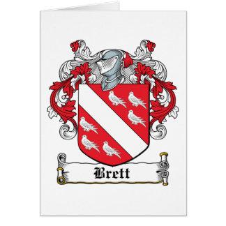 Escudo de la familia de Brett Tarjeta De Felicitación