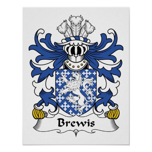 Escudo de la familia de Brewis Póster