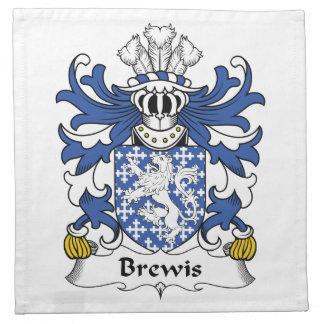 Escudo de la familia de Brewis Servilleta De Papel