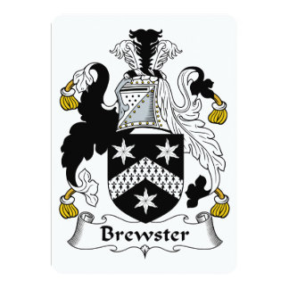 """Escudo de la familia de Brewster Invitación 5"""" X 7"""""""
