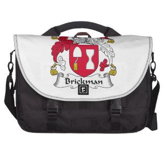 Escudo de la familia de Brickman Bolsas De Portátil