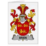 Escudo de la familia de Brien Felicitación