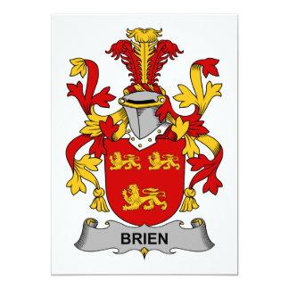 """Escudo de la familia de Brien Invitación 5"""" X 7"""""""