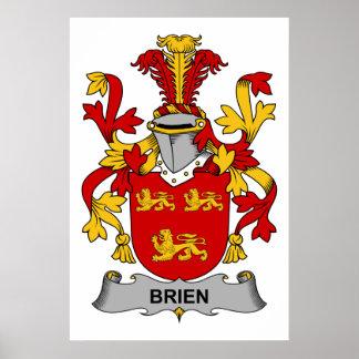 Escudo de la familia de Brien Póster