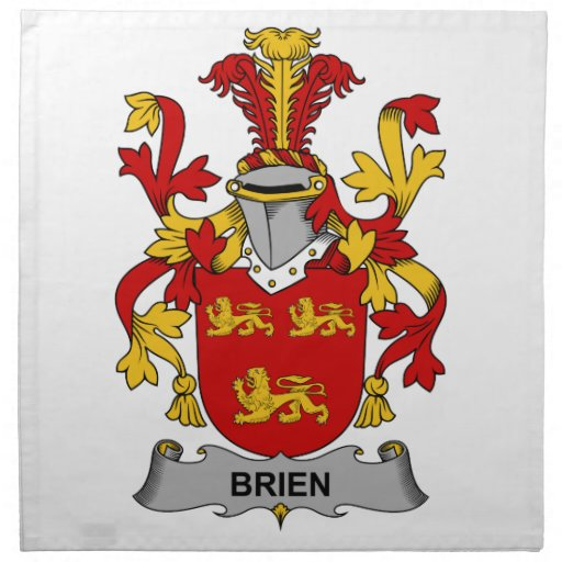 Escudo de la familia de Brien Servilletas De Papel