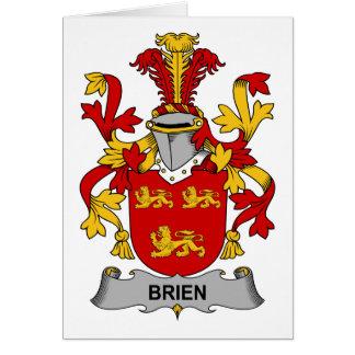 Escudo de la familia de Brien Tarjeta De Felicitación