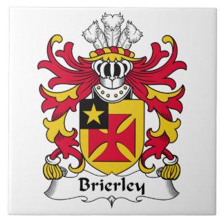 Escudo de la familia de Brierley Azulejo Cuadrado Grande