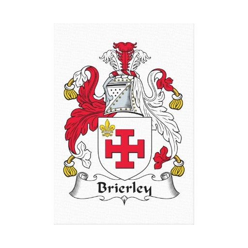 Escudo de la familia de Brierley Lienzo Envuelto Para Galerías