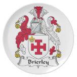 Escudo de la familia de Brierley Plato De Comida
