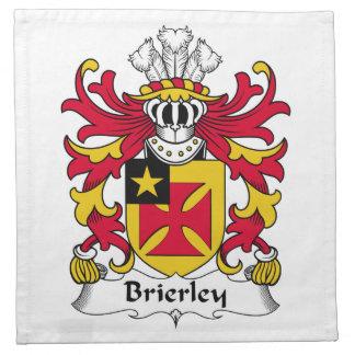 Escudo de la familia de Brierley Servilletas