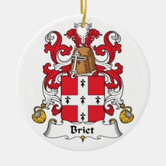 Escudo de la familia de Briet Adorno Redondo De Cerámica