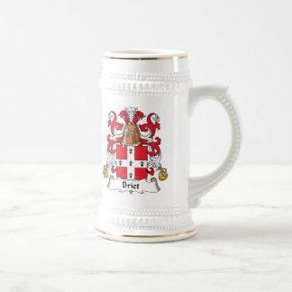 Escudo de la familia de Briet Tazas De Café