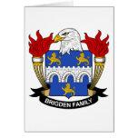 Escudo de la familia de Brigden Felicitaciones