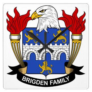 Escudo de la familia de Brigden Reloj Cuadrado