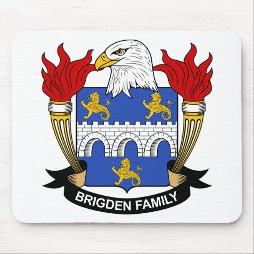 Escudo de la familia de Brigden Alfombrillas De Ratón