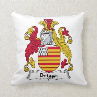 Escudo de la familia de Briggs Cojin