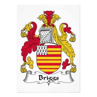 Escudo de la familia de Briggs Invitaciones Personalizada