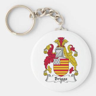 Escudo de la familia de Briggs Llaveros Personalizados