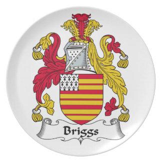 Escudo de la familia de Briggs Plato Para Fiesta