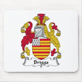 Escudo de la familia de Briggs Alfombrillas De Ratón
